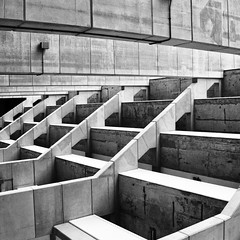 Stepping up (Joseph Pearson Images) Tags: building architecture abstract brunswickcentre london brutalism brutalist square blackandwhite bw mono patrickhodgkinson