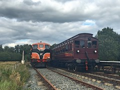 Downpatrick, 07/09/2018 (Milepost98) Tags: ni northern ireland irish dcdr heritage vintage preserved museum line shunt itg traction group diesel locomotive 146 b b146 class gm downpatrick county down railway carriage coach inch abbey train station bcdr railmotor 72