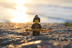 Sunset Student (Working hard for high quality.) Tags: lego ninjago minifigure sunset weather toy backdrop scene character