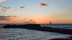 TorreArchirafiAlba-11 (JoySadaro) Tags: alba arancio blue cloud dawn mare nuvole orange sea sun