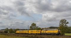 073_2018_10_03_Neukirchen_1218_392_DB_mit_D-DB_99_80_93-60_005-9_&_99_80-9360-4_Netz_Instandhaltung_Fahrwegmessung ➡️ Bad_Hersfeld (ruhrpott.sprinter) Tags: ruhrpott sprinter deutschland germany allmangne nrw ruhrgebiet gelsenkirchen lokomotive locomotives eisenbahn railroad rail zug train reisezug passenger güter cargo freight fret haunetal neukirchen badhersfeld fulda akiem atlu boxx db dispo eloc hgb ige lm lte maed me nrail rdx rhc rpool rprs sbbc sgl tm vtlt 0428 0628 0185 1187 1203 1218 1232 1272 4482 6152 6155 6182 6185 6187 6193 cargoserv hlg ice metrans mrce txlogistik logo natur outdoor
