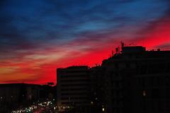 tramonto urbano (duegnazio) Tags: italia italy lazio roma rome duegnazio canon40d montesacro tramonto sunset cielo sky nomentana