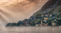 Colonno (hoangcuongnokia8800) Tags: 500px lake view land idyllic fog sky scenics colonno como lago di garda italy italia lombardy lombardia mist waterscape town mountains clouds