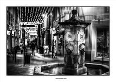 In The Starry Street... (michel di Méglio) Tags: night longexposure bw monochrome street france