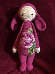 Pink Rita Rabbit (bycreativehands) Tags: crochet crocheted crocheting crafts craft crafting pink handmade commission order flower cross stitch buy buying lalylala rabbit bunny