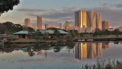 Tokyo, Old and New (seiji2012) Tags: 東京 浜離宮恩賜庭園 反射 japan tokyo hamarikyu reflection hdr happyplanet asiafavorites