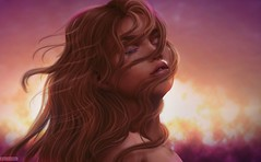 Here Comes The Sun ♥ (A. Doutzen) Tags: photoshop photograpy photo portrait art angel avatar hair second secondlife fashion flickr girl me yo love sky purple