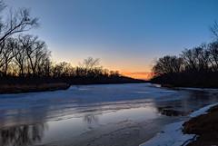 Kettle River Sunset at Maple Island, Minnesota (Tony Webster) Tags: kettleriver mapleisland minnesota saintcroixstatepark stcroixstatepark river snow sunset winter