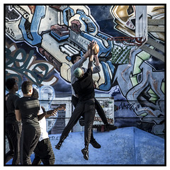 fight (D750PB) Tags: belle mai basket street art