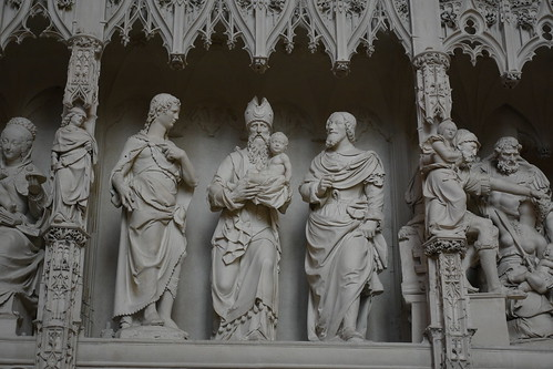 Delicate Statues Inside Chartres Cathedral