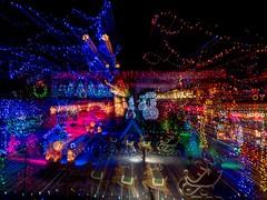 PC204089 (Copy) (pandjt) Tags: orléans ottawa ontario nightphotography winterphotography ledlights christmaslights orléansblvd intentionalcameramovement icm abstract lightpattern