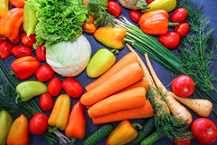 A rich variety of food photography Vegetables. (AlestrPhoto) Tags: vegetables fruits fruit background vegetable fresh organic green healthy food diet tomato pepper broccoli grape nutrition eating yellow health raw orange group collection market vegetarian vegan vitamin lemon harvest colorful cucumber carrot produce assorted red closeup natural concept plant space veg