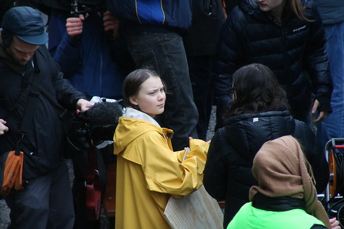Greta Thunberg p Mynttorget, Stockhom