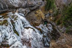 Al borde del abismo (sostingut) Tags: d750 nikon tamron haida abismo cascada hielo agua invierno frío valle cañón bosque árbol vértigo ordesa