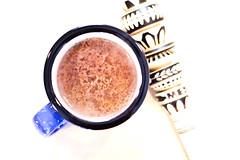 Day 4 of 365 - Hot Drink (gcarmilla) Tags: hotdrink chocolate cup mug blue brown cioccolato cioccolata tazza blu 365 365project