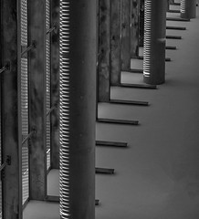 Creative (Martyn.A.Smith LRPS) Tags: pillars shadows shapes monochrome creative indoors metalwork buildingmaterial blackwhite lines repetition fujifilm xt2