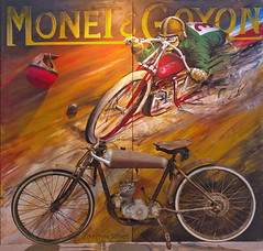 Monet et Goyon (olds.wolfram) Tags: monet et goyon gemälde motorrad motorcycles moto old veteran vintage an artwork by bastian söllner saw stuttgart