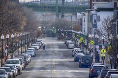 Crossing Bunker Hill St (PAJ880) Tags: bunker hill street mystic bridge tobin parked cars streetlights charlestoswn ma urban city boston neighbohood