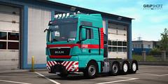 Gruber Logistics Italy - V8 Man TGX680 8x4 [ETS2] (gripshotz) Tags: gruber logistics italy man tgx heavy haul 8x4 v8 680 skin euro truck simulator ets 2