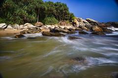 Between two beaches (paaddor) Tags: beach beachphotography ocean surf beachscape tropical srilanka mangrove nikon nikonphotographer longexposure