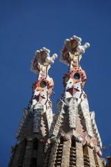 Spires at Sagrada Familia (jdf_92) Tags: spain barcelona sagradafamília catalan antonigaudí sky