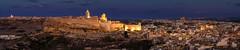Panorama Victoria Gozo with Cittadella (K.H.Reichert [ not explored ]) Tags: nightshot victoria bluehour citadelle blauestunde malta gozo night nachtfoto