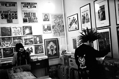 The record store (gborgskij) Tags: film analog gothenburg olympus rc apx 100 records store black gold punk music hc110 dilution b 6min