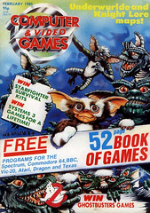 Computer & Video Games #40 (1985), Gremlins cover by Bob Wakelin (gameraboy) Tags: computervideogames 40 1985 gremlins cover bobwakelin 1980s vintage videogames gaming art illustration