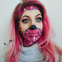 Awesome! By @__aim_ (ineedhalloweenideas) Tags: halloween makeup make up ideas for 2017 happy night before christmas october 31 autumn fall spooky body paint art creepy scary horror pumpkin boo artist goth gothic amazing awesome