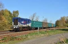 Railpro 603, Roosendaal, 15-11-2018 (Derquinho) Tags: railpro 603 rail pro roosendaal 600 hippel bakkie lineas ballast stone quenast houtbank steenslag trein treinen