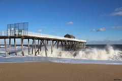Big Swells (gpo321) Tags: belmar surf pier belmarfishingpier jerseyshore nj newjersey swells fall storm beach ocean waves atlanticocean shore downtheshore canon canonsl1