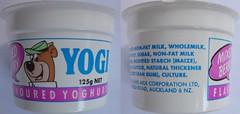 1990 Yogi Mixed Berry Yoghurt Container - New Zealand (NZCollector) Tags: new zealand packaging kiwiana yogi bear hanna barbera