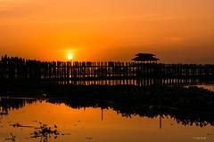 (Laszlo Horvath.) Tags: nikond7100 nikon50mmf18g sunset mandalay burma myanmar amarapura happyplanet