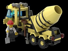 6682_Cement_Mixer_R06 (N2Brick) Tags: cement mixe 6682 lego set