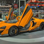 McLaren 570S luxury sports car at the 35th Thailand International Motor Expo at IMPACT Challenger Hall in Muang Thong Thani, Nonthaburi thumbnail