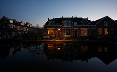 Abcoude (Julysha) Tags: abcoude 2018 february winter thenetherlands angstel evening reflection windows d800e nikkor142428