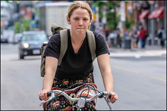 Cyclist Girl on Bank Street (Dan Dewan) Tags: centretown dandewan bicycle bankstreet people canon canonef7020014lusm cyclist 2017 june woman friday eyes portrait canon7d canon7dmarkii ottawa ontario lady girl