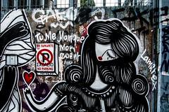 Woman Graffiti, Athens, Greece (Davide Tarozzi) Tags: womangraffiti athens greece αθήνα ελλάδα street streetphotography streetart artedistrada cuore heart