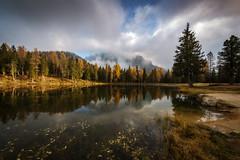 Lac d'Antorno (Arnaud Grimaldi) Tags: lago antorno lac lake dolomiti cortina ampezzo venetie automn reflection dolomites italia italie mountain cloud alpes