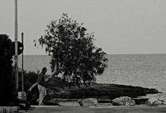 Autumn (marcus.greco) Tags: autumn man portrait tree sea blackandwhite