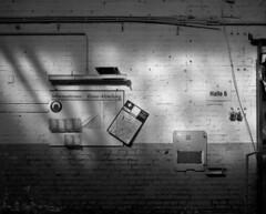 C 13 (andi_heuser) Tags: urbanexploration lostplaces gebäude building fabrik factory architektur architecture verlassen abandoned alt old zerstört destroyed film analog analogue schwarzweiss blackwhite schwarzweissfilm ilford ilforddelta3200 6x7 120 andiheuser