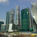 Moscow City Towers on the bank of Moskva river