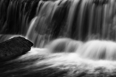 Silk (Jim Nix / Nomadic Pursuits) Tags: jimnix nomadicpursuits austin waterfall longexposure sonya7ii sony nature hike greenbelt bullcreekgreenbelt stream creek luminar skylum monochrome blackwhite texas 24240mm