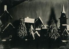 Winter landscape (Rosenthal Photography) Tags: aluminotypie vocecamera8x10tc winter anderlingen haus 13x18 leaslandscape7 kollodium 20181202 100 epsonv800 städte grosformat landschaft tintypie 5x7 analog ilfordrapidfixer dörfer siedlungen aluminiotype tintype alutype collodion landscape indoor wetplate voce 8x10 petzval 360mm f4 epson v800