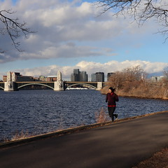 Winter Run (moriah9) Tags: running bostonesplanade longfellowbridge boston river charlesriver cold weather city esplanade