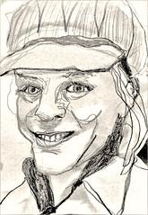 Amy Erickson (chartan) Tags: sketch pencil paper photoshop portrait jkpp