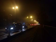 Manchester fog (stillunusual) Tags: manchester fog mcr city england uk streetphotography street cityscape urban urbanscenery urbanlandscape evening night dark kingsway a34 2019