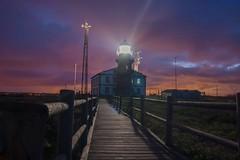 Anochece en el faro (JORGE R.F) Tags: faro cabopeñas asturias anochecer colors sky lights sunset night noche