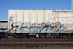 Rakn (quiet-silence) Tags: graffiti graff freight fr8 train railroad railcar art rakn uh wil armn reefer unionpacific armn762206