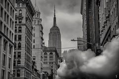 The Empire State Building... (cesar.toribio1218) Tags: newyork thebigapple theempirestatebuilding urbanphotography urban blackandwhitephotos blackandwhite monochrome steaming citystreets streetphotography beautifulview bealpha sony downtownny